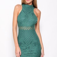 Imposter Dress Forest Green