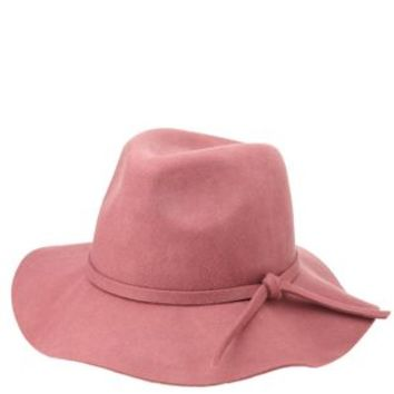 Rose Floppy Felt Panama Hat by Charlotte Russe