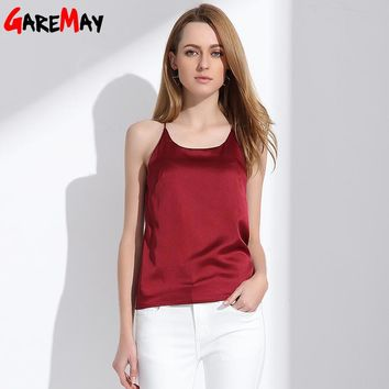 Silk Halter Top Women Camisole 2018 Summer Style Sexy Sleeveless Vest Slim White Crop Top Women Camis Roupas Femininas 3XL Y328a
