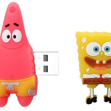 USB stick real capacity usb 2.0 USB flash drive SpongeBob Patrick star cartoon Pen Drive Memory Stick usb creativo S246