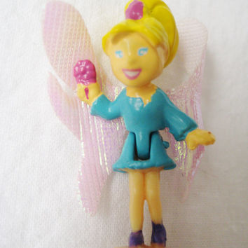Polly Pocket Fairy Figure Replacement Toy from Garden Bloom Locket Flower Fairies Miniature Clean USED
