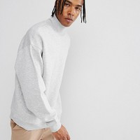 Weekday Big Turtleneck Sweatshirt at asos.com