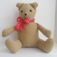 Toy Stuffed Teddy Bear, Children Toy, Handmade Teddy Bear Corduroy
