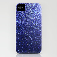 Royal Blue Glitter Sparkles iPhone & iPod Case by xjen94