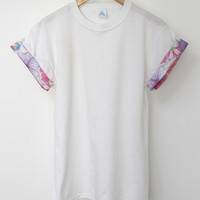 ANDCLOTHING — AND.ALSO Floral Sleeve Tee <em>NEW</em>
