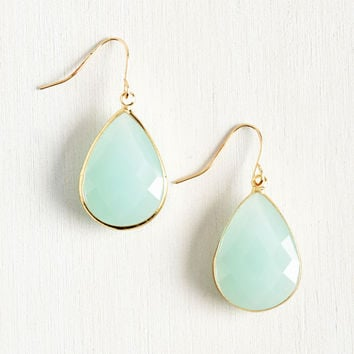 Receiving Drop Honors Earrings in Sky | Mod Retro Vintage Earrings | ModCloth.com