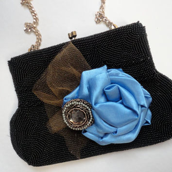 Black and Blue Purse, Evening Bag