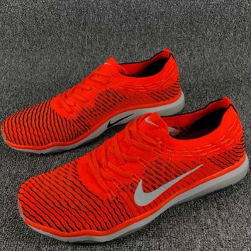 NIKE AIR ZOOM FEARLESS FLYKNIT Comfortable Fashion Training Sneakers F-CSXY orange&red