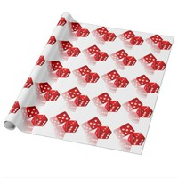 Las Vegas Dice Wrapping Paper
