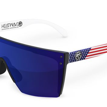 Lazer Face Sunglasses: Stars & Stripes Traditional USA Customs