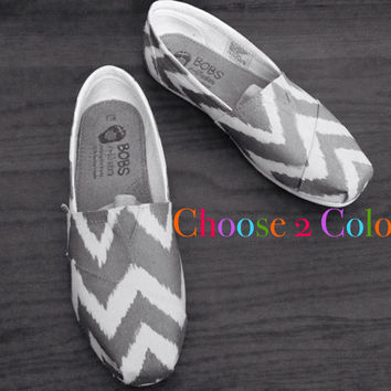Chevron BOBs or TOMs. Choose 2 Colors.- SHOES are included