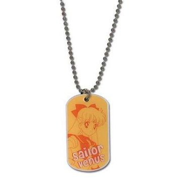Sailor Moon Sailor Venus Dog Tag Necklace