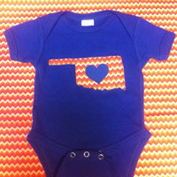Love Oklahoma Onesuit in OKC Thunder colors
