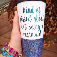 Mermaid Glitter Cup