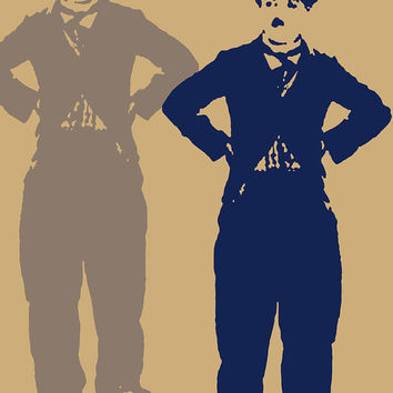 Charlie Chaplin Acrylic Popart Painting Free Shipping