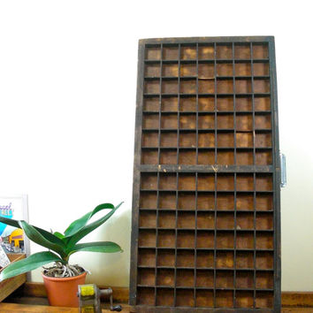Vintage Printer Drawer, Wood Printer Drawer, Wooden Printer Drawer, Printer Drawer Coffee Table
