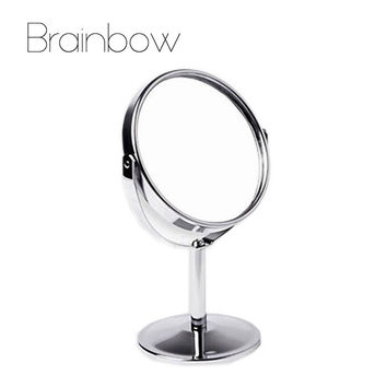 Double Sided Makeup Vanity Table Make Up Mirror Standing Metal Compact  Mirrors Make Up Portable Magnifying Miroir De Maquillage