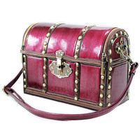 Maroon Treasure Box Bag