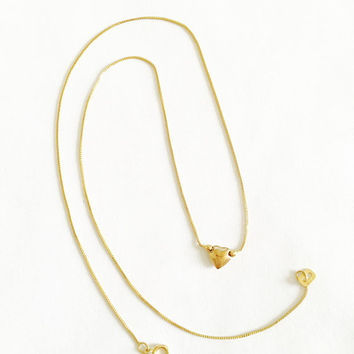 Lovely 14k Gold - 16 Inch Fine, Made in Italy, Box Chain with Center Puffed Heart, Romantic Gift, Elegant Simplicity, Stackable Necklace