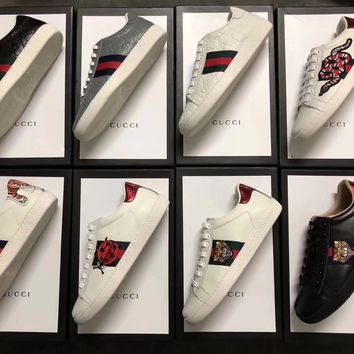 8 pattern to choose GUCCI Women Trending Fashion Embroidery printing Casual Sneakers Sports Shoes