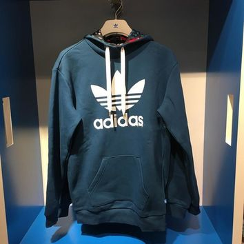 "Fashion ""Adidas"" Women Letter Print Hooded Pullover Tops Sweater Sweatshirts"