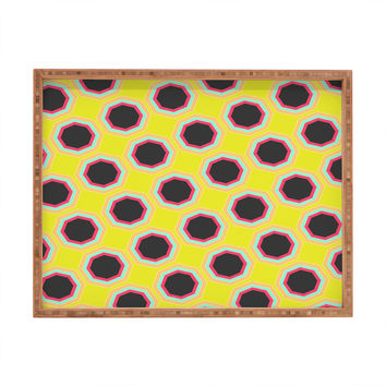 Allyson Johnson Neon Pattern Rectangular Tray