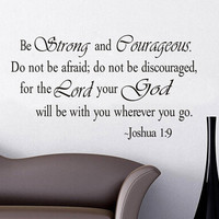 Christian Inspirational Quotes Vinyl Lettering Wall Stickers 8127 Decals for Living