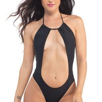 Rising Sun Bodysuit in Black