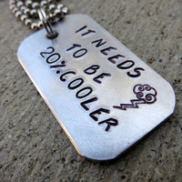 20% Cooler MLP Rainbow Dash Quote Necklace - Made to order