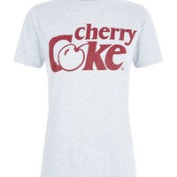 Grey Cherry Coke Print T-Shirt | New Look