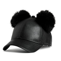 Cap with Pompoms - from H&M