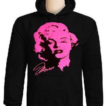 NEW Marilyn Monroe Pink HOODIE SWEATSHIRT SIZE SMALL
