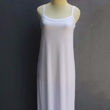 White Soft Jersey Inner Dress fit perfectly for Caftan Maxi Dress