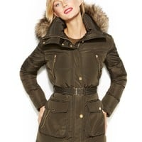 MICHAEL Michael Kors Hooded Faux-Fur-Trim Down Puffer Coat