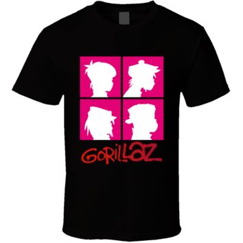 Alternative Rock Cartoon Band Gorillaz Music  T Shirt