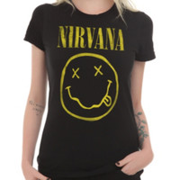 Nirvana Smiley Girls T-Shirt