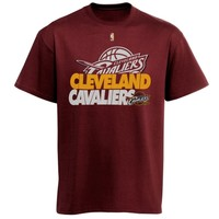 Majestic Cleveland Cavaliers Team Game Face 2.0 T-Shirt - Wine