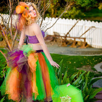 Adult mad hatter bustle tutu, adult tutu, Mad hatter costume, mad hatter bustle shorts, mad hater tea party costume adult size
