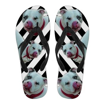 Catahoula Leopard Flip Flops For Men-Free Shipping