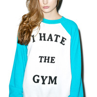 Wildfox Couture No Gym Love Kim's Sweater Clean White