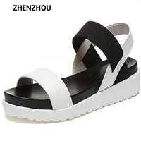 Hot Selling sandals women Summer shoes woman 2016 peep-toe flat Shoes Roman sandals Women sandals sandalias mujer sandalias