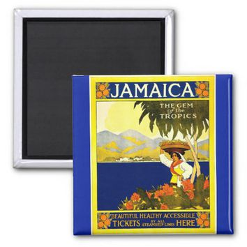 Vintage Jamaica The Gem of the Tropics Magnet