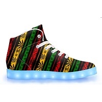 Rasta - APP Controlled High Top LED Shoes