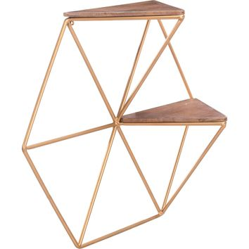 Gold Triangles Shelf