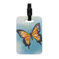 "Padgett Mason ""Summer Flutter"" Blue Orange Decorative Luggage Tag"