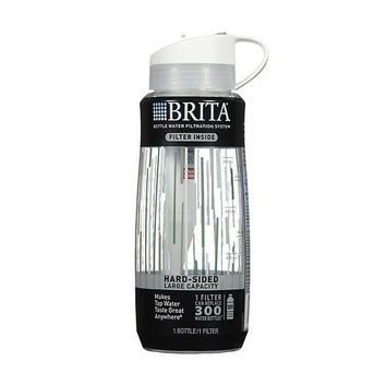 Brita Hard Sided Water Filter Bottle 34 oz - Clear (4x1 CT)