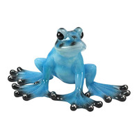 Park Avenue Collection Tropical Blue Frog Statue