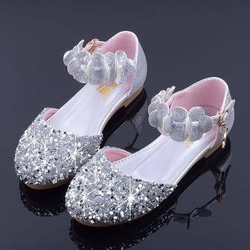 authorized site 9c653 733ed Mudipanda Girls Party Shoes Kids Flat Princess  Sandals 2018 New ... c878777396