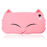 Cute Cat Face Silicon Case for iPhone 5