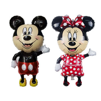 XXPWJ 112*64 cm Minnie Mickey foil balloons red Bowknot standing mouse Polka dot wedding birthday party decor supplies globos